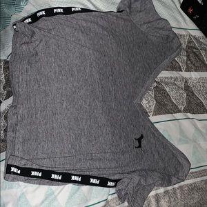 Pink grey shirt size S